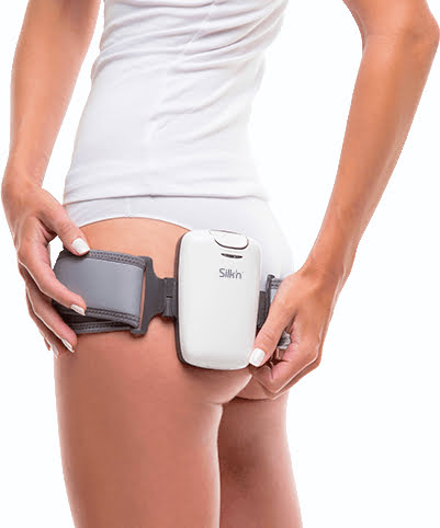 Silkn Lipo Device being used by a young woman