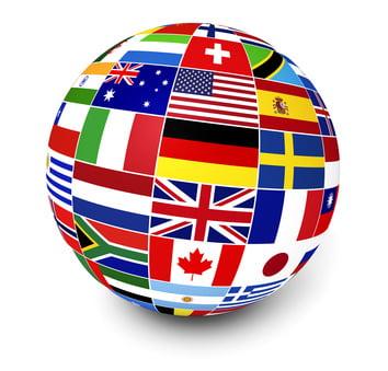 International Business World Flags