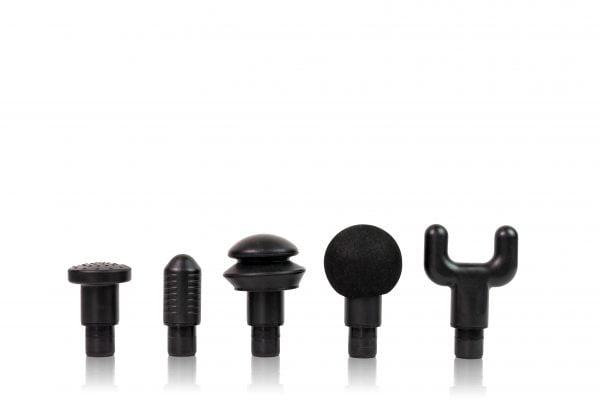 5 heads of the Solio Gun Massager