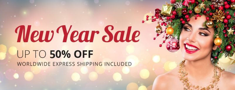 New Years Sale up to 50% off