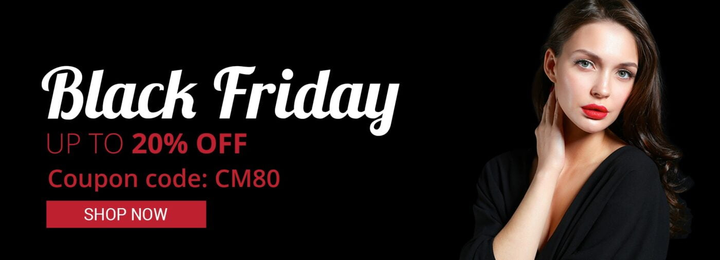 Black Friday 20% OFF coupon code CM80