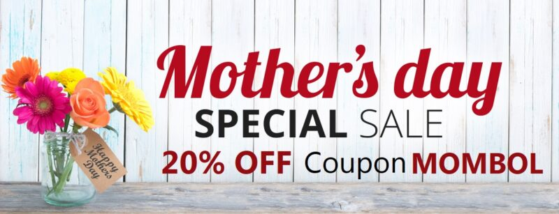Mothers Day Special discount 20% off coupon MOMBOL